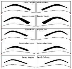 image about Printable Eyebrow Stencils referred to as Eyebrow Templates Printable. custom made eyebrow templates Ã' how