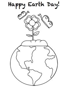 earth day coloring pages free prints and earth day on pinterest