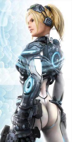 sci fi cyborg girl