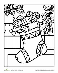 coloring pages coloring book pages and stockings on pinterest