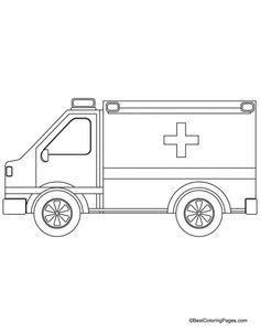 1000 images about ambulance coloring pages on pinterest