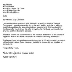 reference letter on pinterest cover letters letter templates and