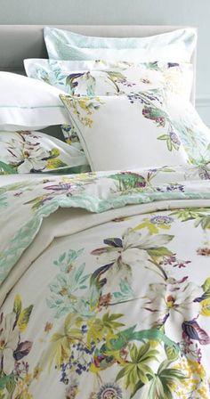 Zara Home Floral Garden Bloom Botanical Watercolor