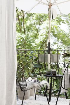 Summer city balcony