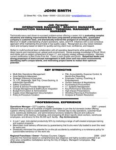 resume click here to download this operations manager resume template