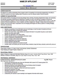 school librarian librarians and resume on pinterest