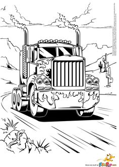 big rig trucks coloring pages and coloring pages for kids on