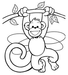 1000 images about monkey colouring pages on pinterest animal