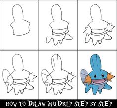 daryl hobson artwork how to draw a pokemon step by step mudkip more