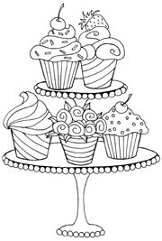 sweet cupcakes coloring and coloring pages on pinterest