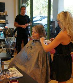 hair cutting cape hair by scott co pinterest bleach blonde her hair and bleach