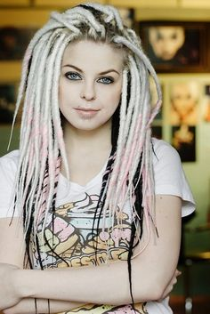 1000 ideas about white dreads on pinterest dreadlocks synthetic dreads and pink dreads