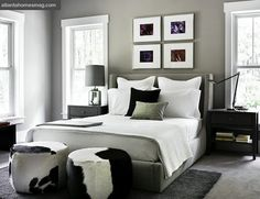 Black White And Gray Bedroom With Tradional Outlook Ideas Interior Design