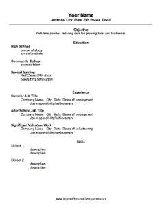 resume student resume and job resume on pinterest job specific resume templates