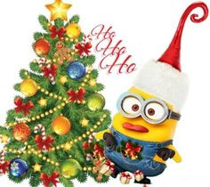 merry christmas funny quotes for cards minions wishes - Minions Christmas Tree