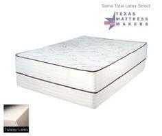 Texas Mattress Makers Siena Total Latex Select 2 059 00 Queen Set Http