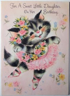 1000 Images About Cat Art On Vintage Greeting Cards On