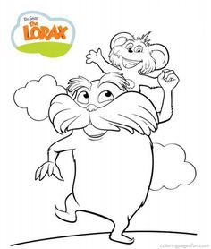 lorax the lorax and coloring pages on pinterest