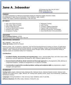 software tester resume testing resume sample mobile testing resume