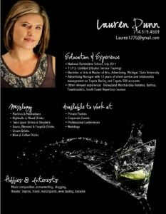 resume resume examples and bartenders on pinterest