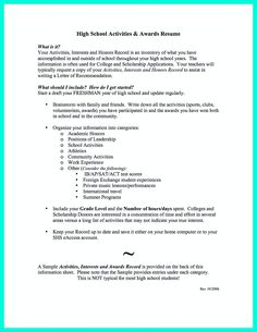 resume format resume and high schools on pinterest