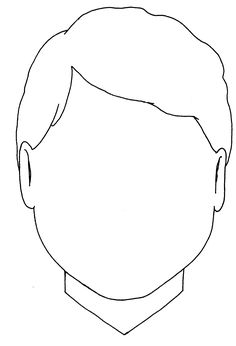 face template colouring pages and faces on pinterest