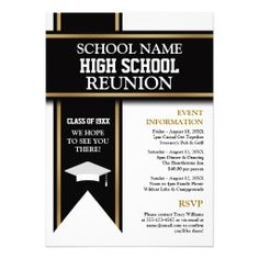 College reunion invitation letter newsinvitation school colors banner custom class reunion card class reunion invitation letter samples stopboris Gallery