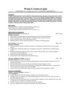 pharmacist sample resume pharmacy technician cvs resume template