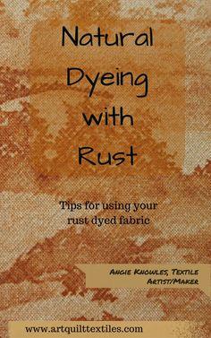 rust dyed fabric ebo