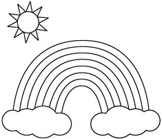 coloring pages for kids rainbows and coloring pages on pinterest