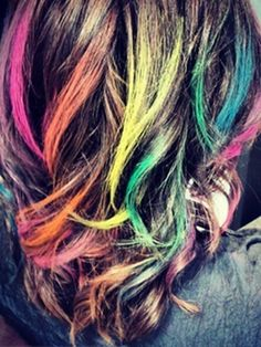 hair chalk rainbow colors and pastel on pinterest