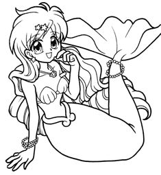 mermaid melody mermaids and coloring pages on pinterest
