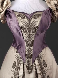 Worth dress with two bodices, 1885-90 From the Musée Galliera