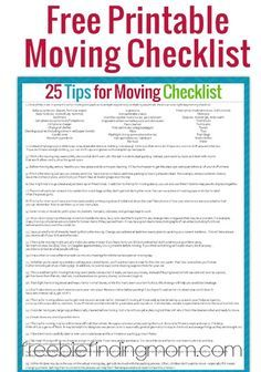 Moving List Template. moving checklist checklist template and ...
