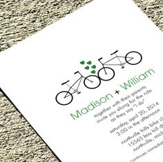 Bicycle Wedding Invitations PaperInvite