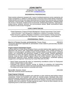 resume templates resume and engineers on pinterest