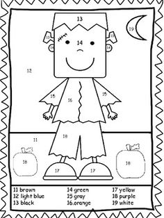 color by numbers number worksheets and worksheets on pinterest
