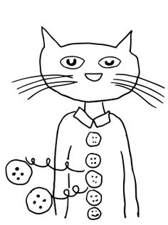pete the cat coloring page available at www makinglearningfun com