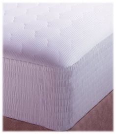 Croscill Pima Cotton Stripe King Mattress Pad By 65 97 10 Ounces Polyester Fill