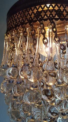 Teardrop Glass Chandelier Ceiling Lighting Fixture