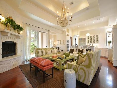 Open Concept Kitchenliving Roombreakfast Area On