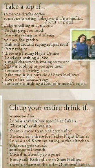 Gilmore Girls Drinking Game
