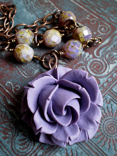 Purple Rose Summer Necklace