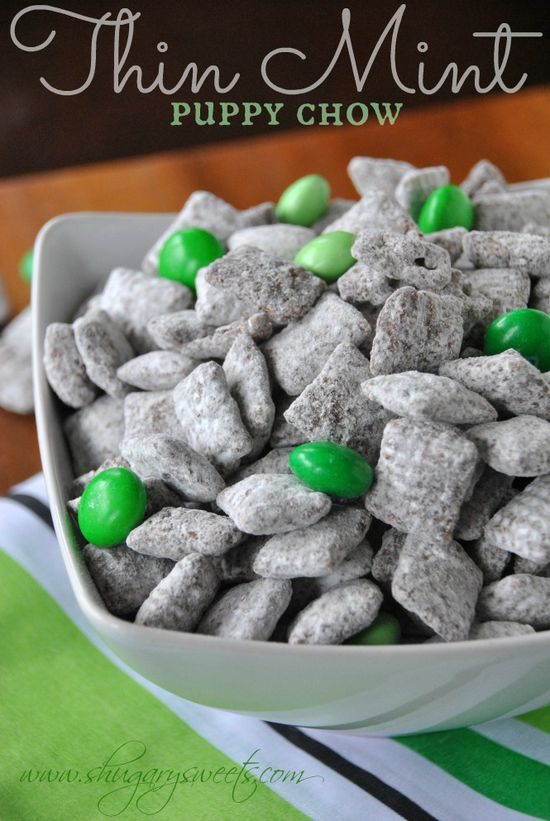 Puppy Chow tastes like your favorite Girl Scout Thin Mint cookies!