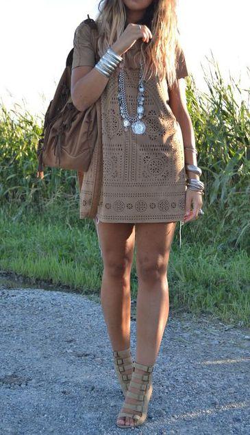 gorgeous summer dress & accessories