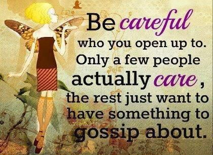 So many fake people out there, so you have to remember that everyone is NOT your