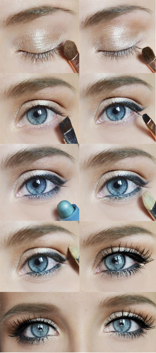 great makeup day or night. makeup is basic for any eye color, switch up the colo