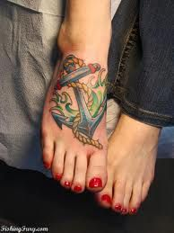 You like anchors, and you have really cute feet, this would look hot/adorable on