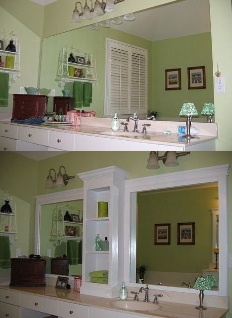 Before & After -doesn't involve cutting or removing the mirror! – Click