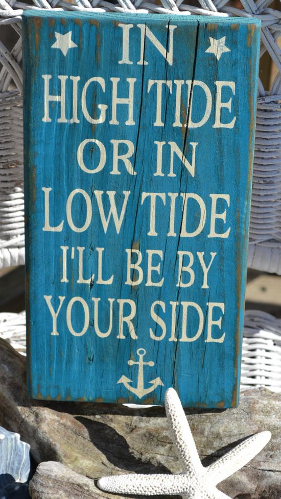 Beach Anchor Coastal Decor Hand Painted Reclaimed Beach Wood Sign by CarovaBeach